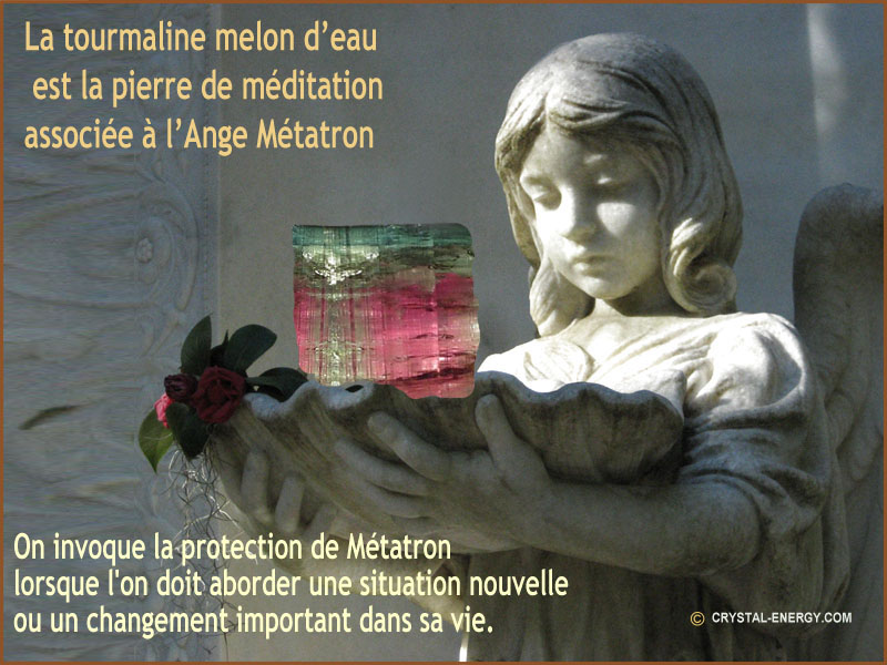 tourmaline melon d'eau la pierre de l'ange metatron
