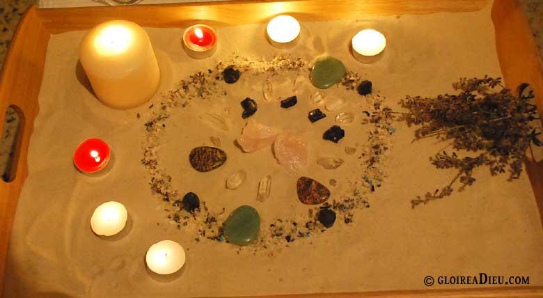 bâtir un autel de cristal pour prier dieu et les anges