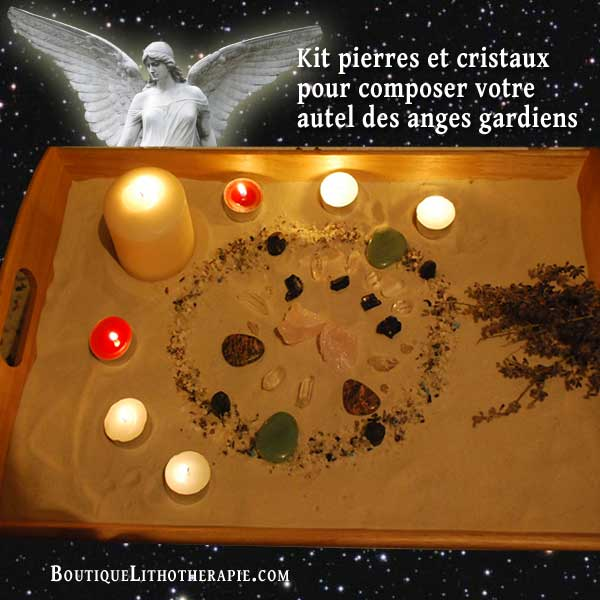 kit pierres et cristaux autel des anges - Priere Pour Un Mariage Heureux