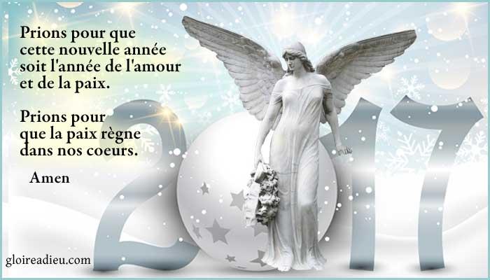 Prière pour la nouvelle année sur gloireadieu.com