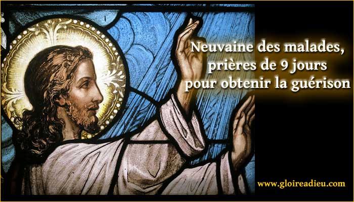 Neuvaine des malades, prières pour la guérison - www.gloireadieu.com