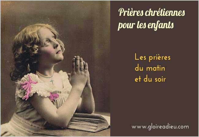 Les prières du matin et du soir des enfants