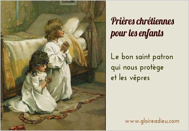 Le bon saint patron qui nous protège et les vêpres