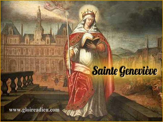 Vie de Sainte Geneviève patronne de Paris - www.gloireadieu.com