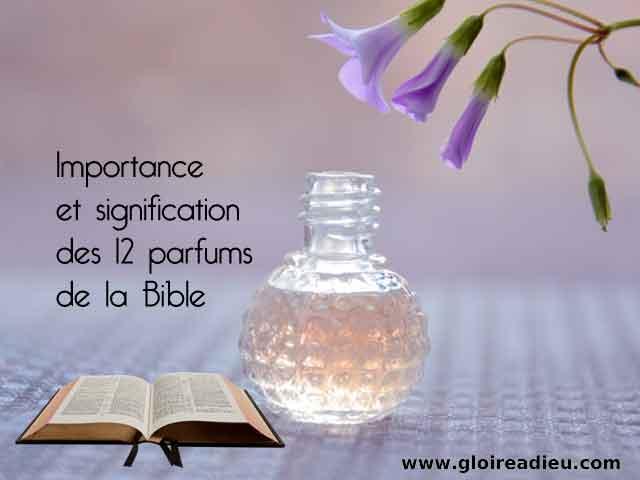 Importance et signification des 12 parfums de la Bible
