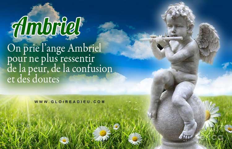 prier ange ambriel pour chasser la peur