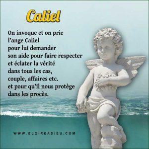 Prier l'ange Caliel pour connaître la vérité dans une affaire