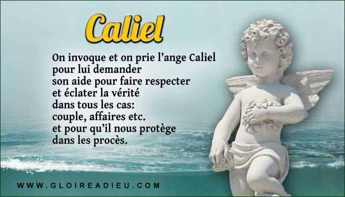 Caliel est l'ange de la vérité et de la justice