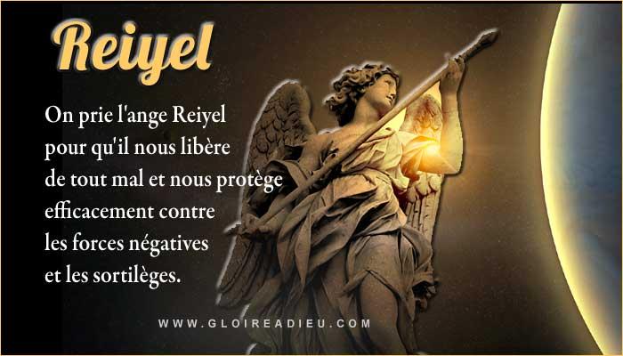 Reiyel ange à prier pour se libérer d'un mauvais sort, des sortilèges