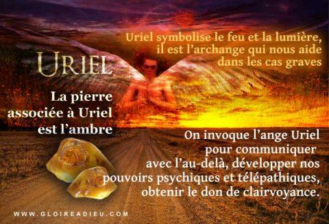 Uriel l'ange à prier avoir de l'aide dans les cas graves et urgents