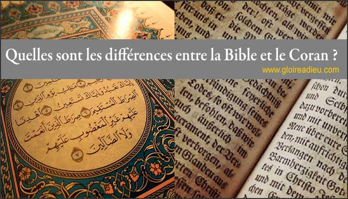 Quelles sont les différences entre la Bible et le Coran