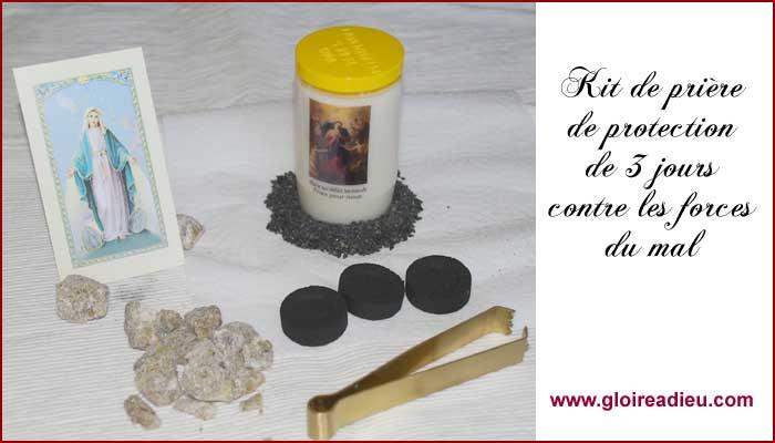 kit de protection la vierge marie contre les forces du mal gloire dieu. Black Bedroom Furniture Sets. Home Design Ideas