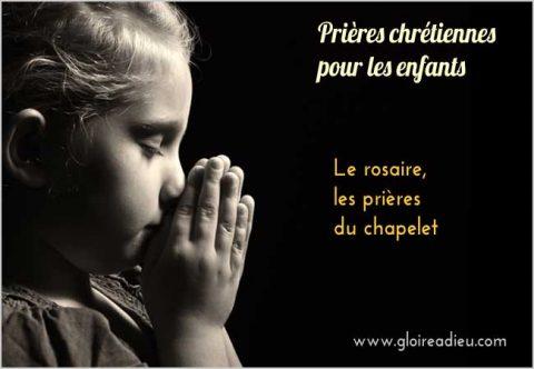 Comment prier le rosaire, la prière du chapelet expliquée aux enfants