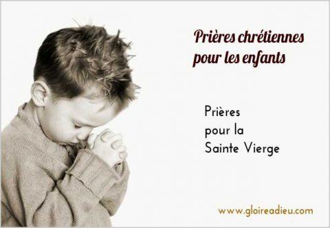 Prières pour la sainte vierge expliquée aux enfants