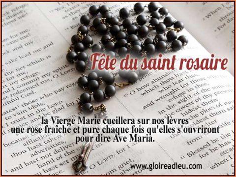 Fête du saint rosaire, premier dimanche d'octobre