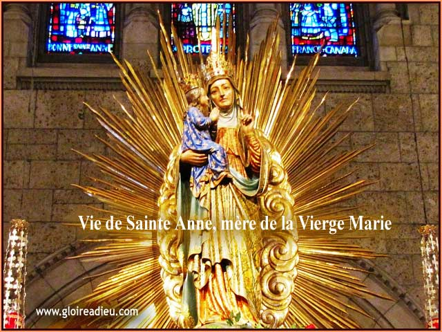 Vie de Sainte Anne mère de la Très Sainte Vierge Marie