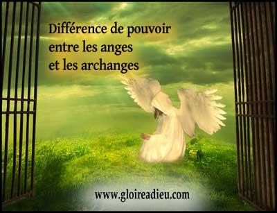 Quelle est la différence de pouvoir entre les anges gardiens et les archanges?
