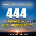 signification 444 message ange gardien
