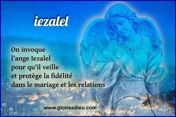 Iezalel ange de la fidélité et de la réconciliation