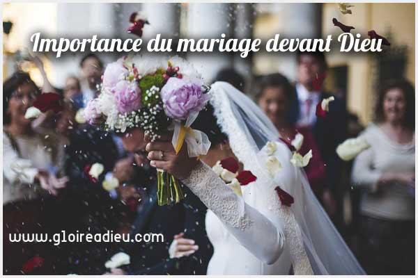Importance du mariage à l'église devant Dieu