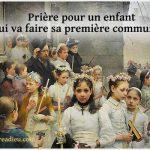 priere enfant premiere communion