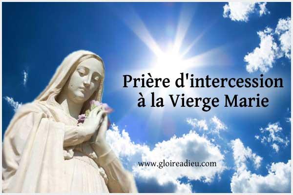 Prière d'intercession à la Vierge Marie