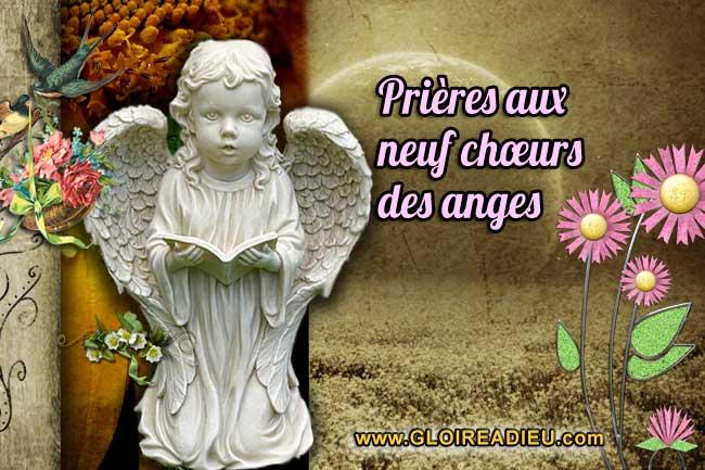 Prières aux neuf chœurs des anges