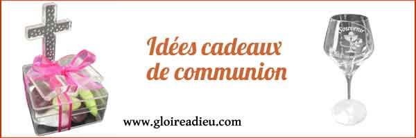 Idées cadeaux de communion personnalisables pour fille ou garçon sur Gloireadieu.com