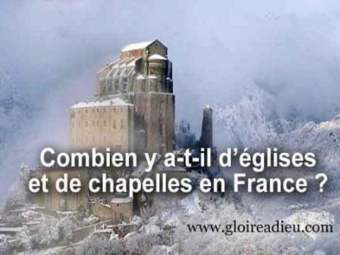 Combien y a-t-il d'églises et de chapelles en France ?