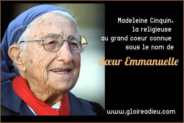 Madeleine Cinquin, la religieuse au grand coeur connue comme Sœur Emmanuelle