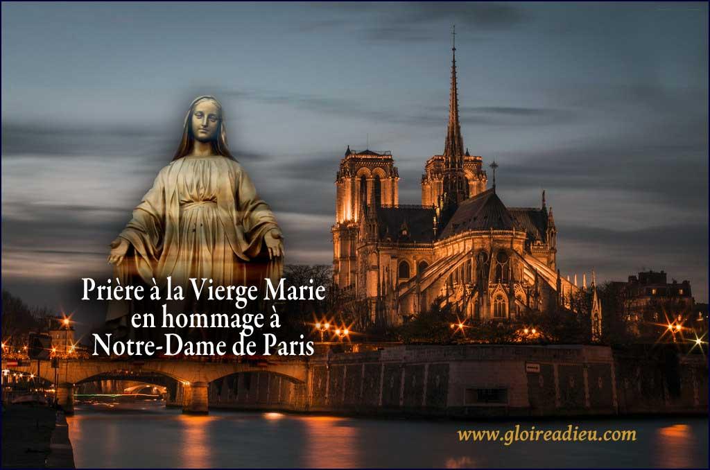 Prière à la Vierge Marie en hommage à Notre-Dame de Paris