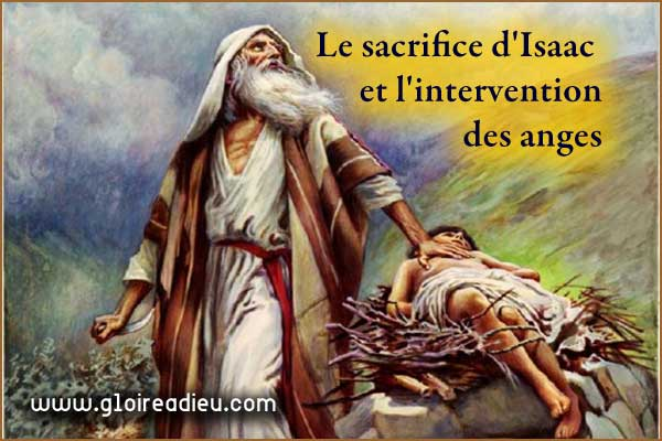 Le sacrifice d'Isaac et l'intervention des anges