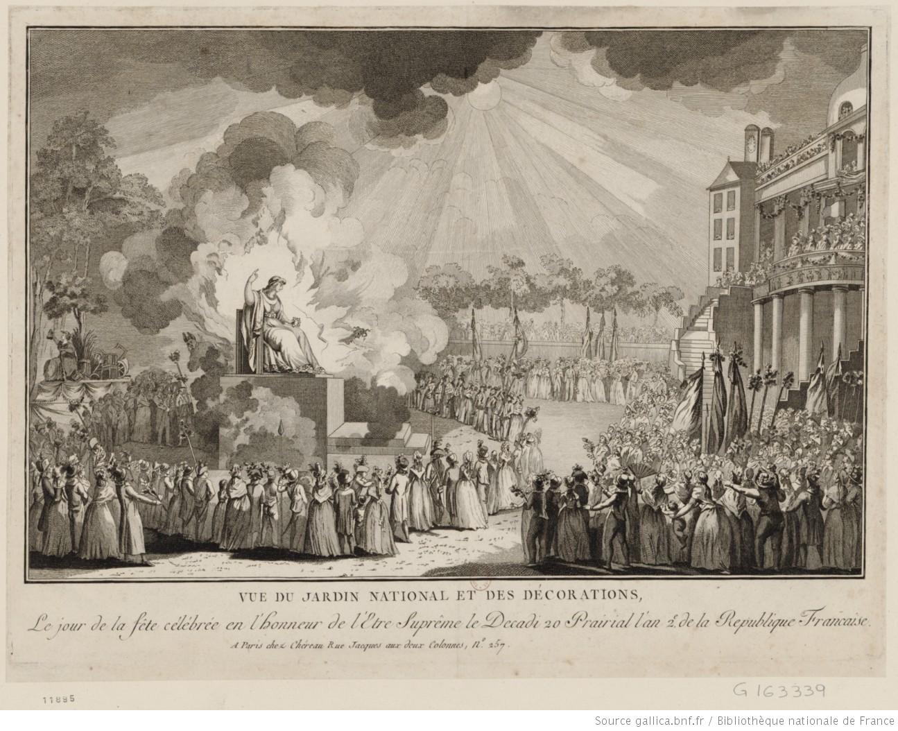 Mai 1794 : Robespierre fait célébrer le culte de l'Être suprême