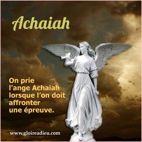 07 – Achaiah ange à prier pour avoir du soutien dans les épreuves