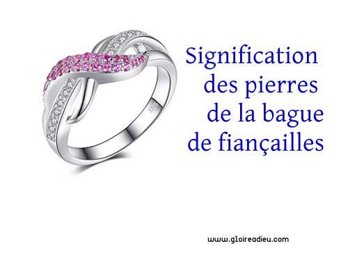 Signification des pierres précieuses de la bague de fiançailles