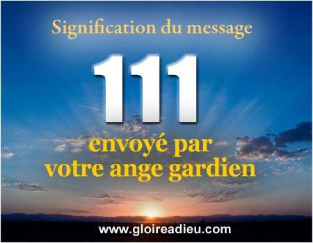 Signification du nombre 111