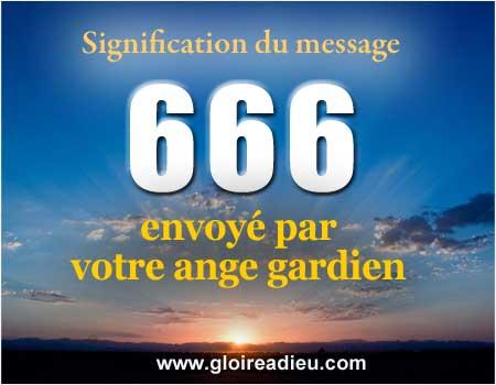 Signification du chiffre 666 envoyé par votre ange gardien