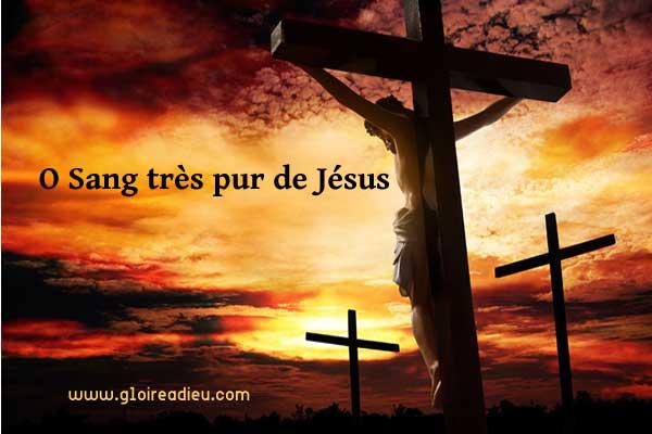 priere O Sang très pur de Jesus