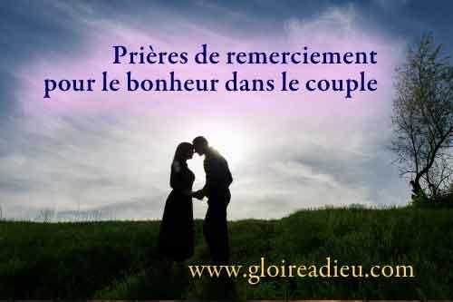 Prières de protection et de remerciement pour le bonheur dans le couple