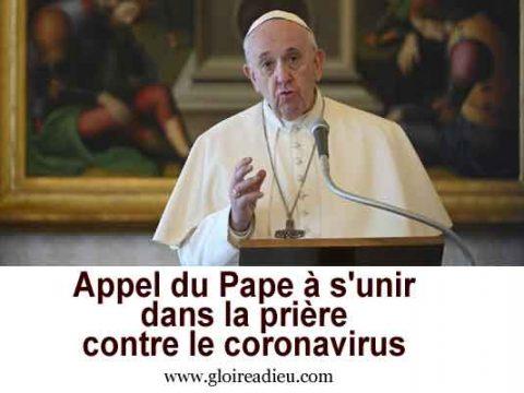 Appel du Pape à s'unir dans la prière contre le coronavirus