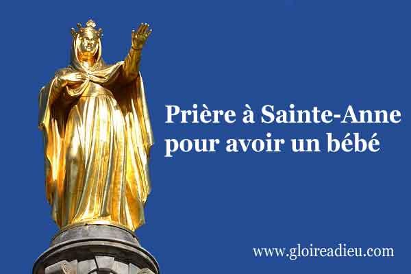 Prière à Sainte-Anne pour avoir un bébé