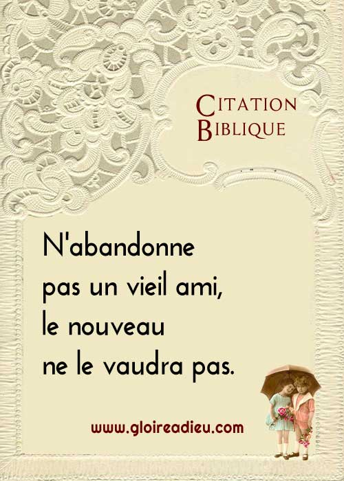 Citation biblique: abandonner un ami