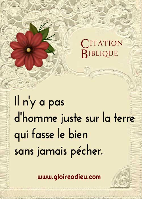 Citation biblique: le péché