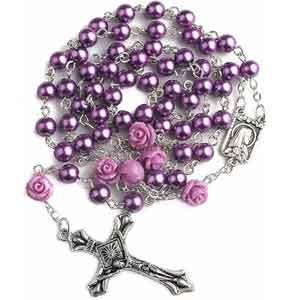 Chapelet Perles Rosaire Violet