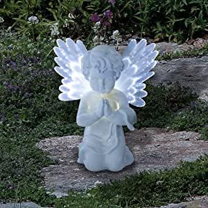 Statue Ange Lumiere Bleue