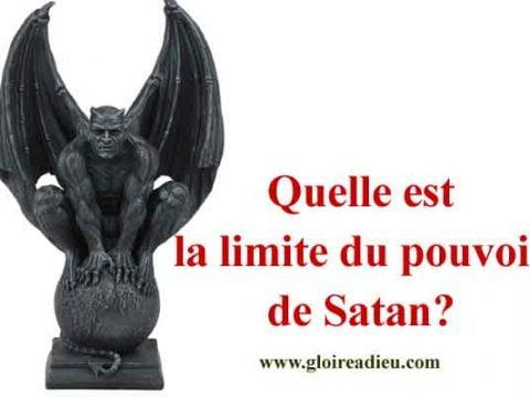 Quelle est la limite du pouvoir de Satan?