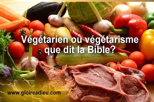 Que dit l'église à propos du régime végétarien et du végétarisme?