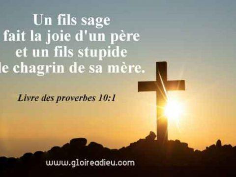Verset 10:1 du Livre des proverbes de Salomon