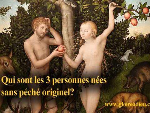 Qui sont les 3 personnes nées sans le péché originel?