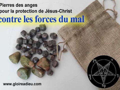 Pierres pour attirer la protection de Jésus contre le mal